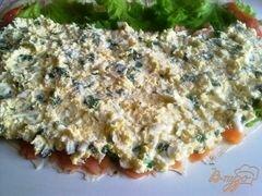 «Лаваш с семгой и сырным салатом.» - приготовления блюда - шаг 9