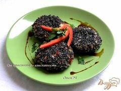 «Рисовые котлетки с овощами в кунжутной панировке» - приготовления блюда - шаг 5