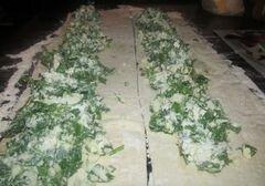 «Спанакопита -традиционный греческий пирог со шпинатом» - приготовления блюда - шаг 3