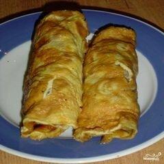 «Омлет с фаршем» - приготовления блюда - шаг 8