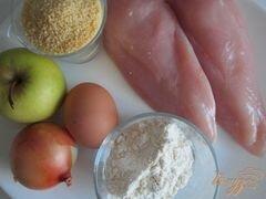 «Куриные тефтельки с яблоком и крупой» - приготовления блюда - шаг 1