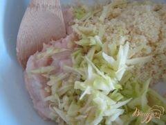 «Куриные тефтельки с яблоком и крупой» - приготовления блюда - шаг 5