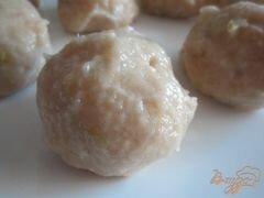 «Куриные тефтельки с яблоком и крупой» - приготовления блюда - шаг 7