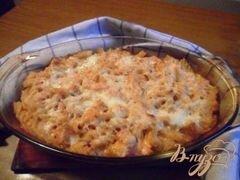 «Запеканка из макарон с индейкой в сырном соусе.» - приготовления блюда - шаг 9