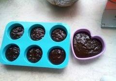«Шоколадные кейки с перцем чили» - приготовления блюда - шаг 8