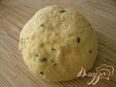 «Пирог с лососем, зеленью и овощами» - приготовления блюда - шаг 2