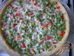 «Пирог с лососем, зеленью и овощами» - приготовления блюда - шаг 5