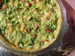 «Пирог с лососем, зеленью и овощами» - приготовления блюда - шаг 6