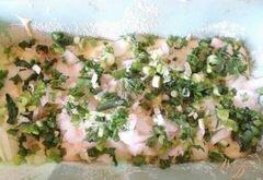«Слоеный пирог с рыбой» - приготовления блюда - шаг 6