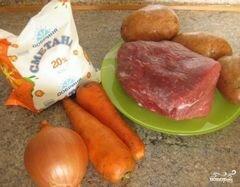 «Мясо с картофелем в рукаве» - приготовления блюда - шаг 1