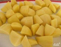 «Мясо с картофелем в рукаве» - приготовления блюда - шаг 3