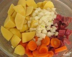 «Мясо с картофелем в рукаве» - приготовления блюда - шаг 6