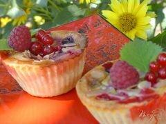 «Корзиночки творожные со смородиной и малиной» - приготовления блюда - шаг 6