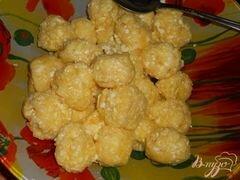 «Ленивые вареники со сметано - цитрусовым соусом» - приготовления блюда - шаг 2