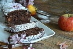 «Шоколадный кекс с яблоками» - приготовления блюда - шаг 8
