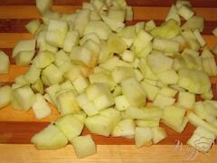 «Салат из курицы с фасолью и яблоком» - приготовления блюда - шаг 4