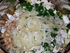 «Салат из курицы с фасолью и яблоком» - приготовления блюда - шаг 5