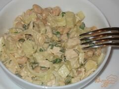 «Салат из курицы с фасолью и яблоком» - приготовления блюда - шаг 6