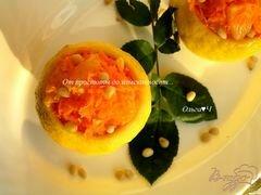 «Лимоны с морковным салатом» - приготовления блюда - шаг 7