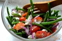 «Салат с зеленой фасолью» - приготовления блюда - шаг 4