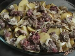 «Свинина в чесночном маринаде с картофелем в духовке» - приготовления блюда - шаг 3