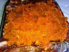 «Говяжий рулет с курагой и морковью.» - приготовления блюда - шаг 9