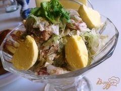 «Салат с сардинами» - приготовления блюда - шаг 12