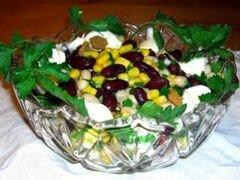 «Салат с сухариками и фасолью» - приготовления блюда - шаг 5