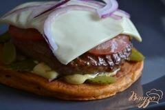 «Бургер из томатных оладьев» - приготовления блюда - шаг 2
