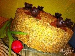 Торт Шоколадный медовик с черносливом, пошаговый рецепт с фото