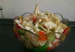 Чука салат с постным ореховым соусом., пошаговый рецепт с фото
