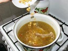 Суп-пюре из нута с кальмаром и оливками, пошаговый рецепт с фото