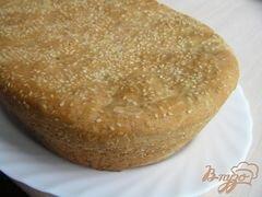 Свежий румяный постный хлеб с кунжутом..., пошаговый рецепт с фото