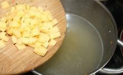 Гороховый суп с гренками - приготовления блюда - шаг 7