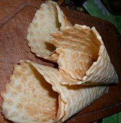 Вафельные рожки для мороженого – кулинарный рецепт