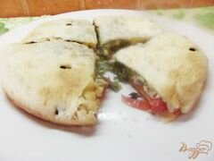 Закрытая пицца с курицей, пошаговый рецепт с фото
