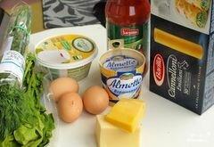 Пенне с баклажанами, шпинатом и соусом с рикоттой, пошаговый рецепт с фото