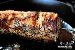 Свиная вырезка в зеленой шубе, пошаговый рецепт с фото