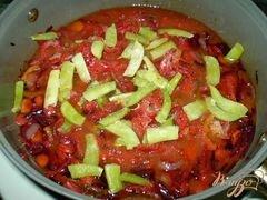 «Постный борщ со спаржевой фасолью» - приготовления блюда - шаг 4
