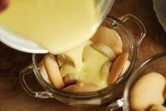 Банановый пудинг - приготовления блюда - шаг 1