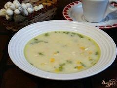 «Сырный суп с консервированной кукурузой» - приготовления блюда - шаг 7