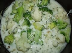 Гарнир из брокколи и цветной капусты – кулинарный рецепт